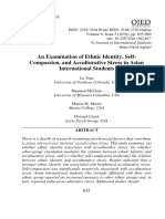 An Examination of Ethnic Identity, Self-Compassion, and Acculturative Stress in Asian International Students Lu Tian, Shannon McClain, Marisa M Moore, Howard Lloyd