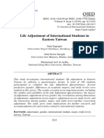 Life Adjustment of International Students in Eastern Taiwan Nadi Suprapto, Orde Koria Saragih, Muchamad Arif Al Ardha
