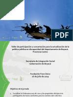 Presentación Talleres Provinciales Actualizacion Politica Publica Departamental