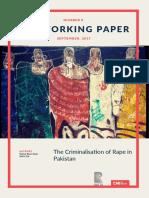 criminalization rate in Pakistan