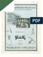 1928 - South Bend Machine Shop