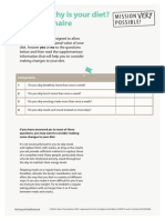 Health at Work How Healthy is Your Diet Questionnaire