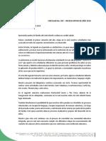 CIRCULAR N° 097  RECESO DE VACACIONES 2019