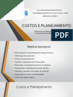 Aulas - Custos e Planejamento - Sli2