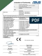 EU Declaration of Conformity for ASUS DVD Writer