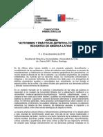 """Primera Circular JORNADA """"ACTIVISMOS Y PRÁCTICAS ARTÍSTICO-CULTURALES  RECIENTES EN AMÉRICA LATINA"""""""