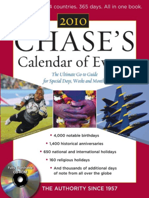 Chase's - Chase's Calendar of Events 2010_ the Ultimate Go