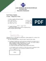 Exercícios Complementares - Matemática Básica -Função do 2ª grau.doc
