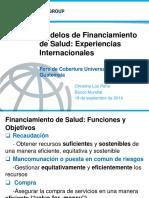 Modelos de Financiamiento de Salud