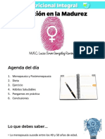 Nutrición en La Madurez de la mujer