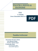 1 Pendahuluan Matematika Bisnis Ekonomi