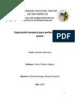 Exposicion Exportacion Temporal Para Perfeccionamiento Pasivo