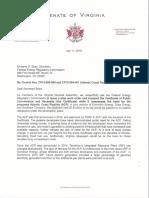 Creigh Deeds Letter to FERC