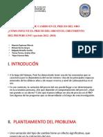 IMPACTO DEL TIPO DE CAMBIO EN EL PRECIO DEL ORO