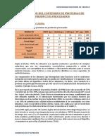 Evaluación de contenido de Proteínas