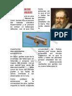Biografia de Galileo Galilei