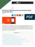 AnonyTun VPN APK Gratis Para Android Mejor Versión