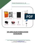 Solar system off grid