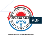 PE Load Calcs LLC Demo Work