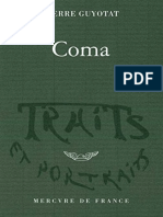 eBook Pierre Guyotat - Coma Traits Et Portraits