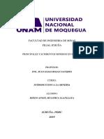 Principales Yacimientos Mineros en El Peru
