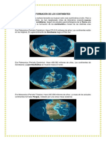 Formación de Los Continentes