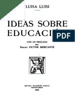 Ideas sobre Educación