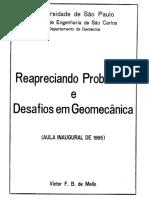 171.1 - Reapreciando Problemas e Desafios Em Geomecânica - Victor de Mello