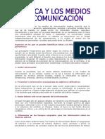 Los Medios de Comunicación y La Ética