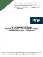 CNS-NT-11-13 ESPECIFICACIONES TÉCNICAS DE DUCTOS, CURVAS Y ACCESORIOS METÁLICOS..pdf