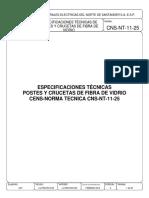 CNS-NT-11-25 ESPECIFICACIONES TÉCNICAS DE POSTES Y CRUCETAS FIBRA VIDRIO..pdf