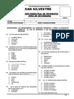 Examen Bimestral de Geografia - 1ero- I.E San Silvestre.docx