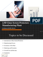 2.5D Glass Screen Protectors Manufacturing Plant