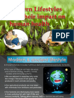 Morden life style and impact on human health