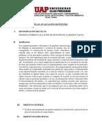 Plan Evaluacion de Puentes Uap Filial Tacna Mayo 2019