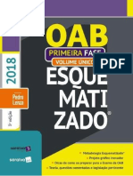 OAB Esquematizado 1ª Fase Volume Único (2018) - Pedro Lenza Ed. 03