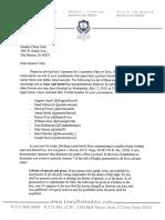 Letter to Senator Celsi