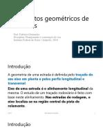 Aula 2 - Elementos Geométricos de Estradas
