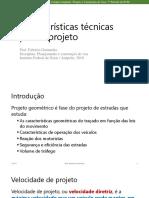 Aula 3 - Características Técnicas Para Projeto