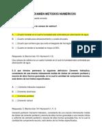 Cuestionario Examen Metodos Numericos