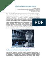 Recursos Educativos Digitales y Entornos de Aprendizaje Virtuales