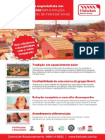 Folheto Aquecedor Habitações Interesses Sociais