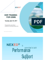 NEXED EDR Service Training Master OEM 2017