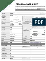 My Personal Data Sheet