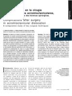 Complicaciones en Cirugías AcromioClaviculares