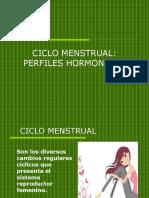 Ciclo Menstrual- Perfiles Hormonales