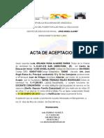 Republica Bolivariana de Venezuela Aceptaciones y Postulaciones