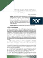 SILVA, M. M. O problema da Fundação especulativa do Especulativo puro..., 2005. [Manuel Moreira da Silva, Diadochus Speculativus].