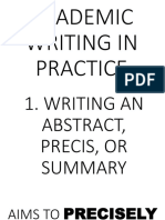 Academic Writing in Practice