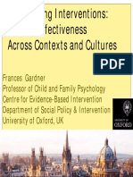 Parenting Interventions Effectiveness Across Contexts and Cultures - Frances Gardner